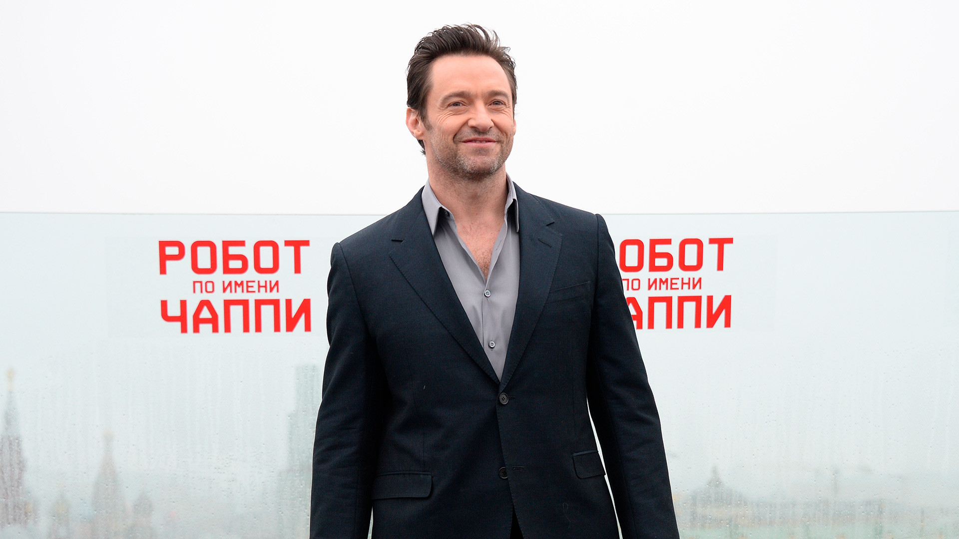 Hugh Jackman at Ritz-Carlton Hotel in Moscow.