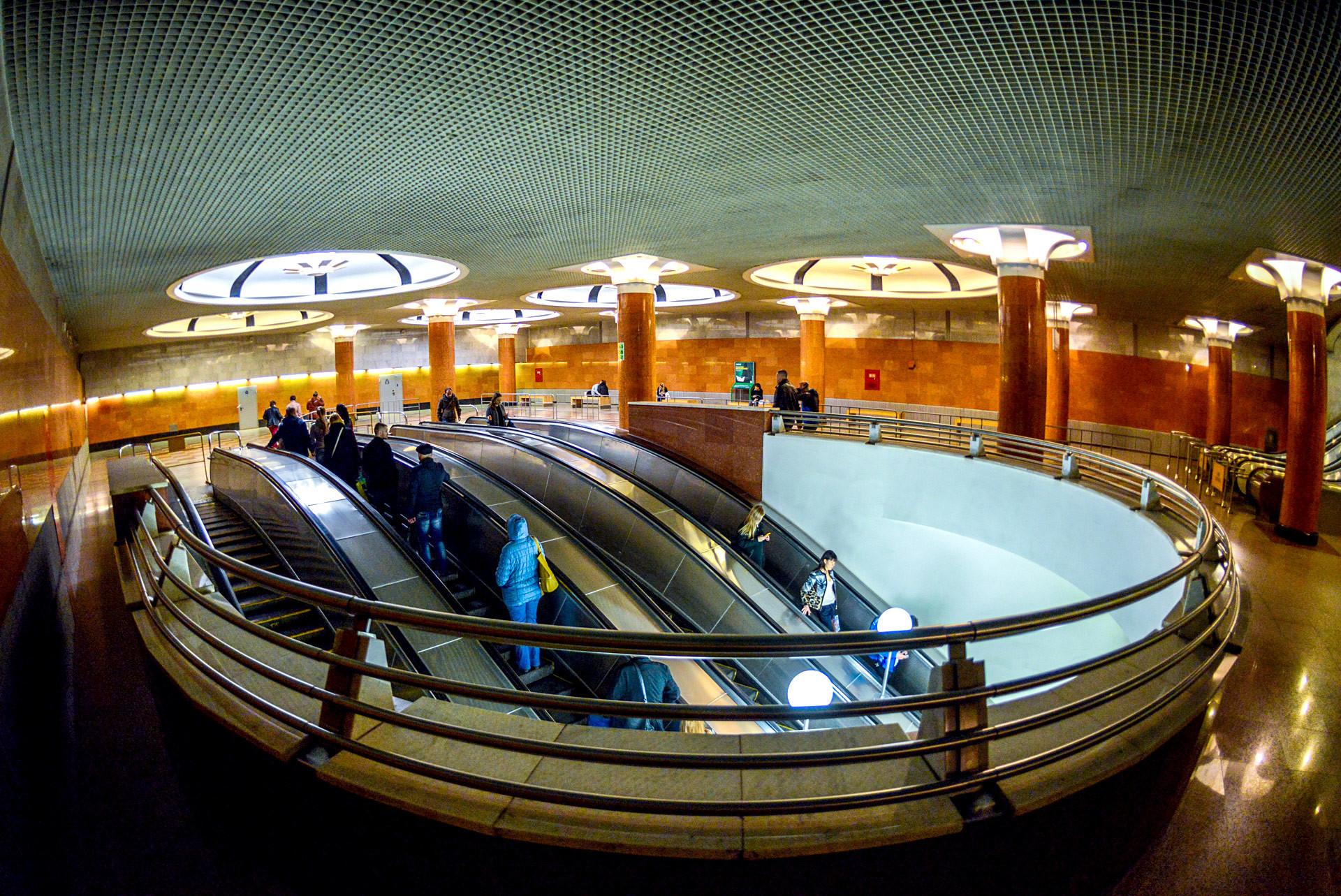 Estación de metro de Moscú Park Pobedi.