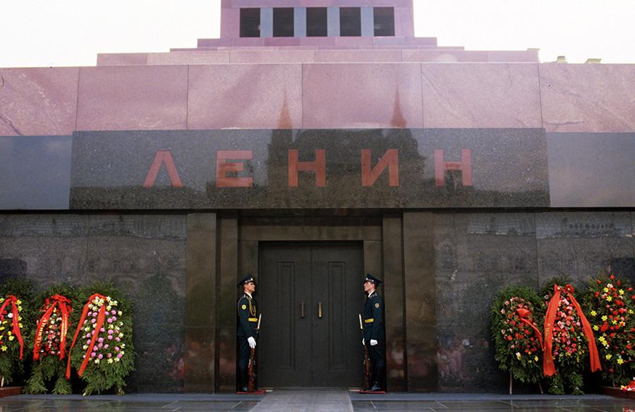 Sicherheitskräfte am Lenin-Mausoleum