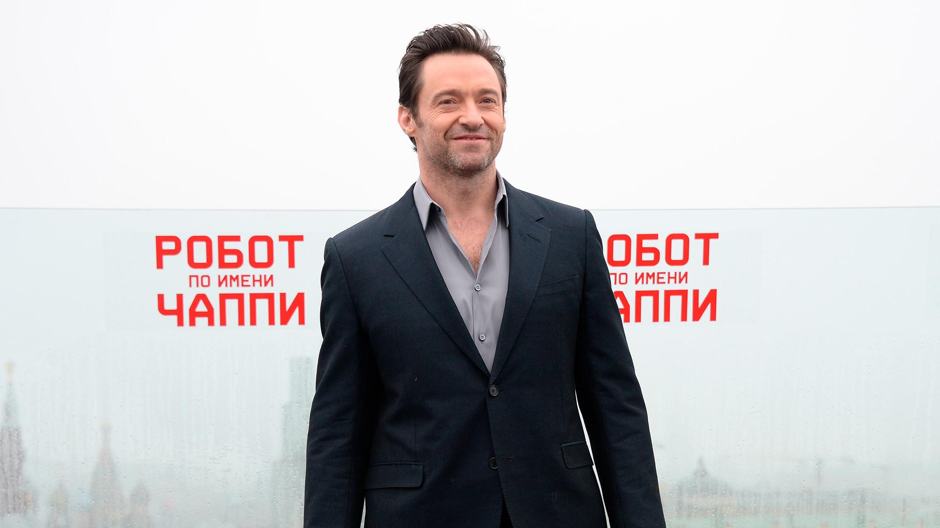 Hugh Jackman en Moscú.