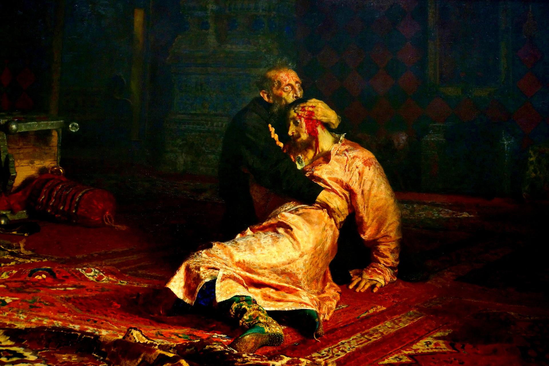 Ilja Repin: Iwan IV. hölt seinen toten Sohn im Arm