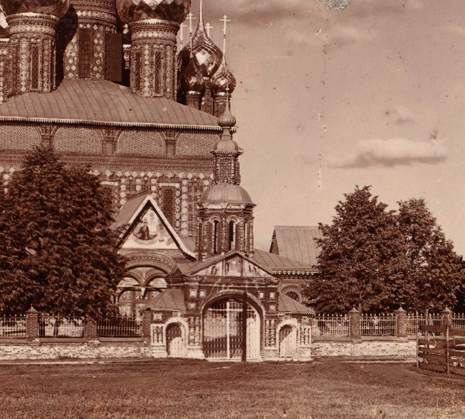 Church of Decapitation of John the Baptist, with Holy Gate. Summer 1910.