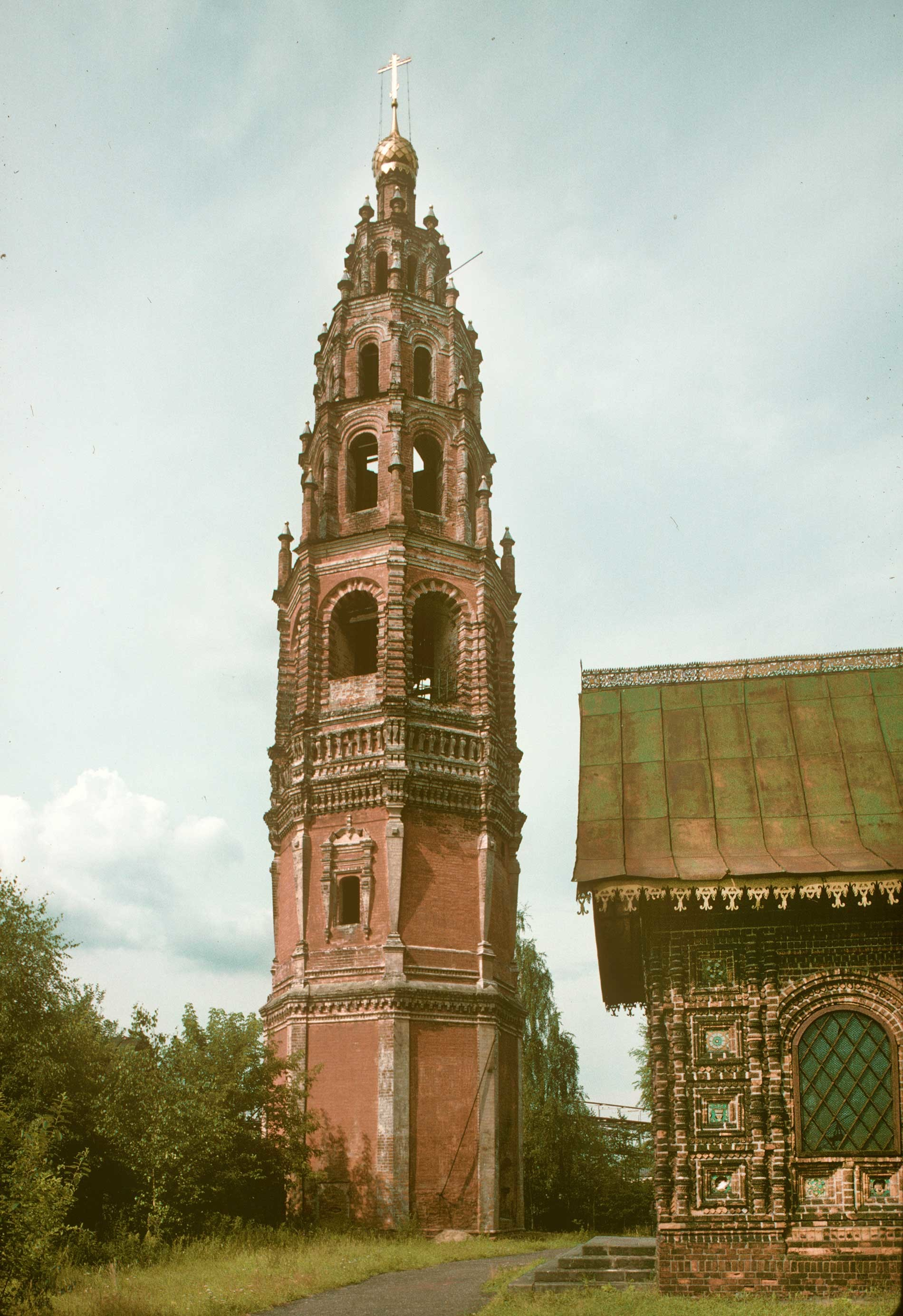 Church of Decapitation of John the Baptist. Bell tower. East view. June 29, 1995.
