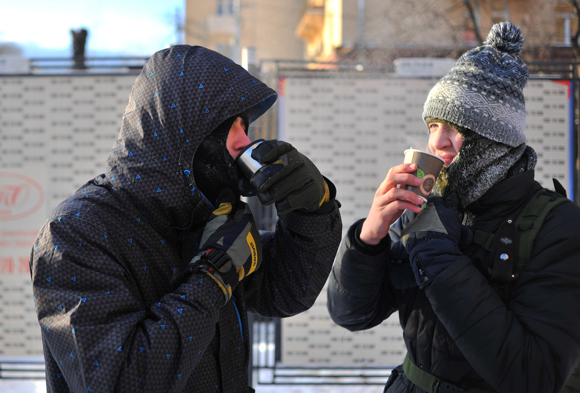 Hot drinks can be a great help during the cold winter.