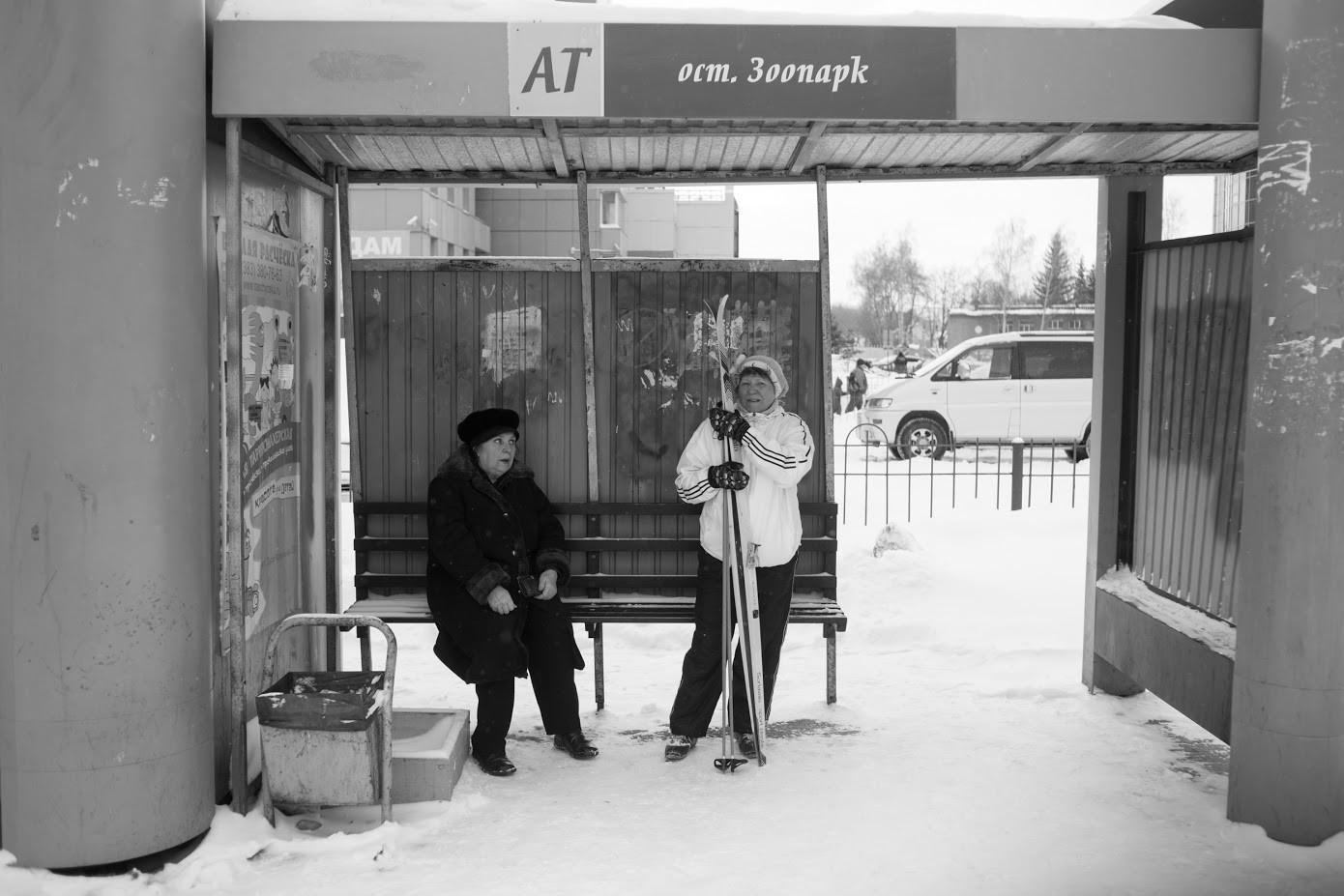 Novosibirsk, avtobusna postaja.