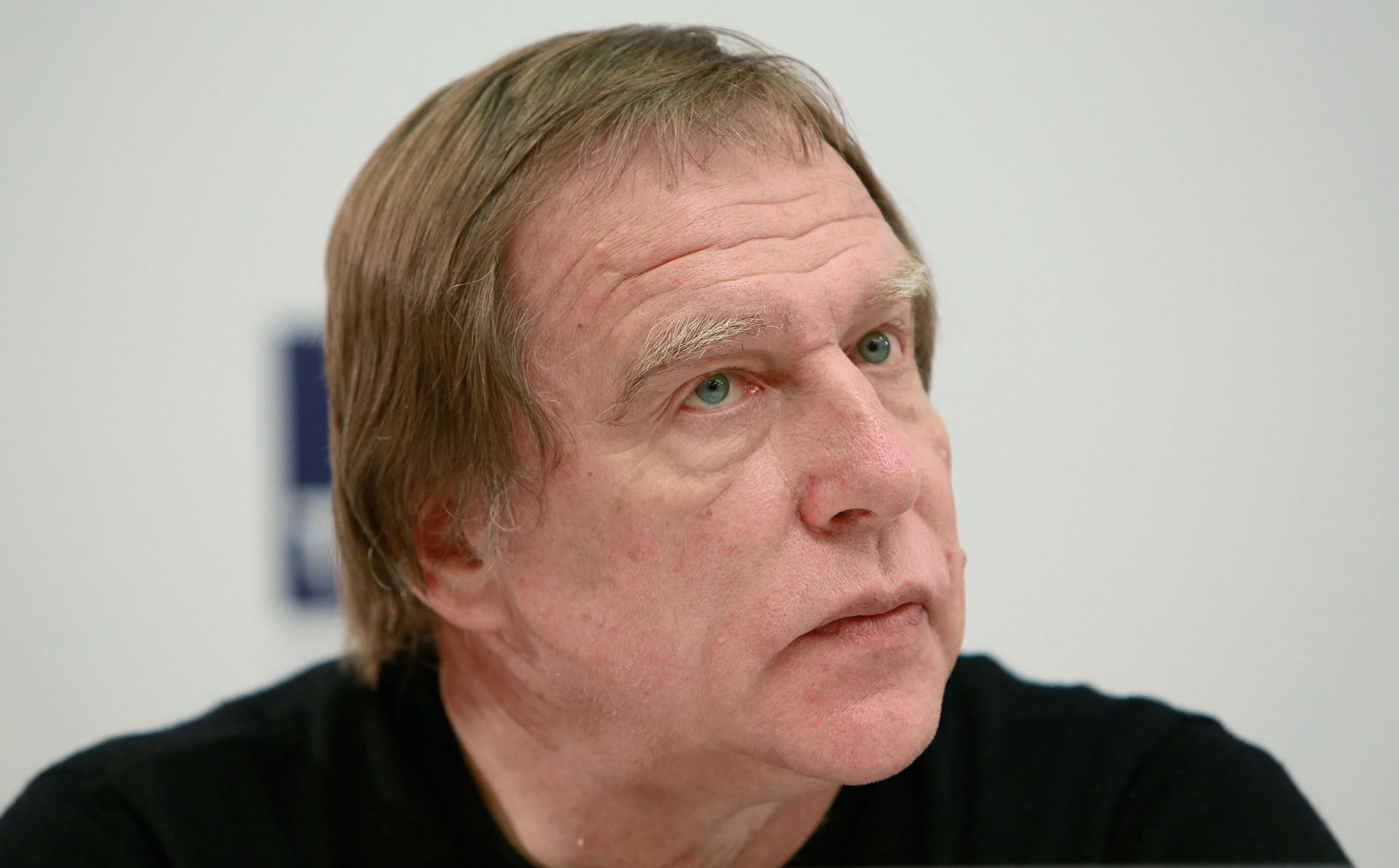 Сергеј Ролдугин, уметнички руководилац Санктпетербуршког дома музике, на конференцији за новинаре.
