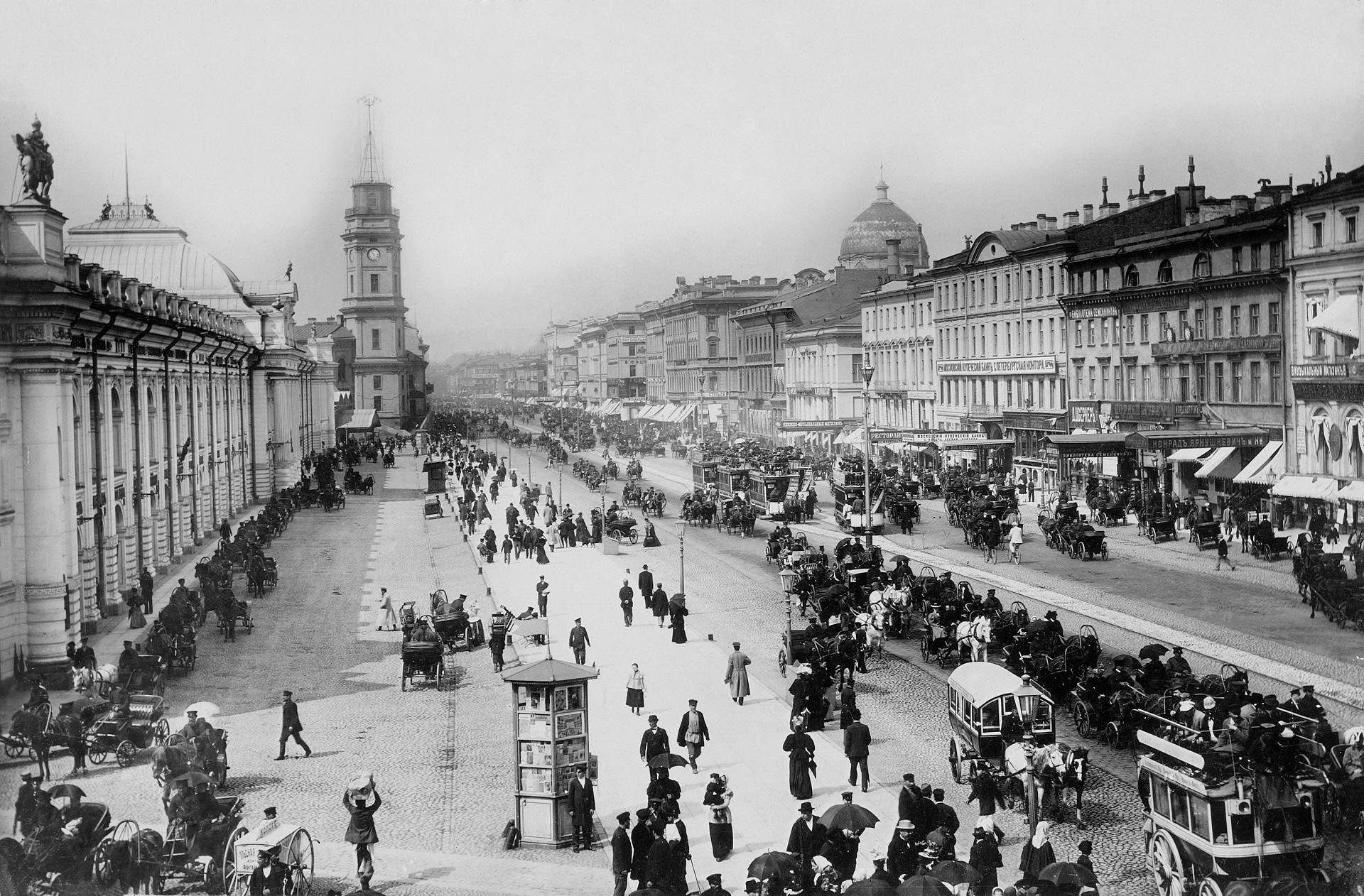 San Petersburgo a finales del siglo XIX.