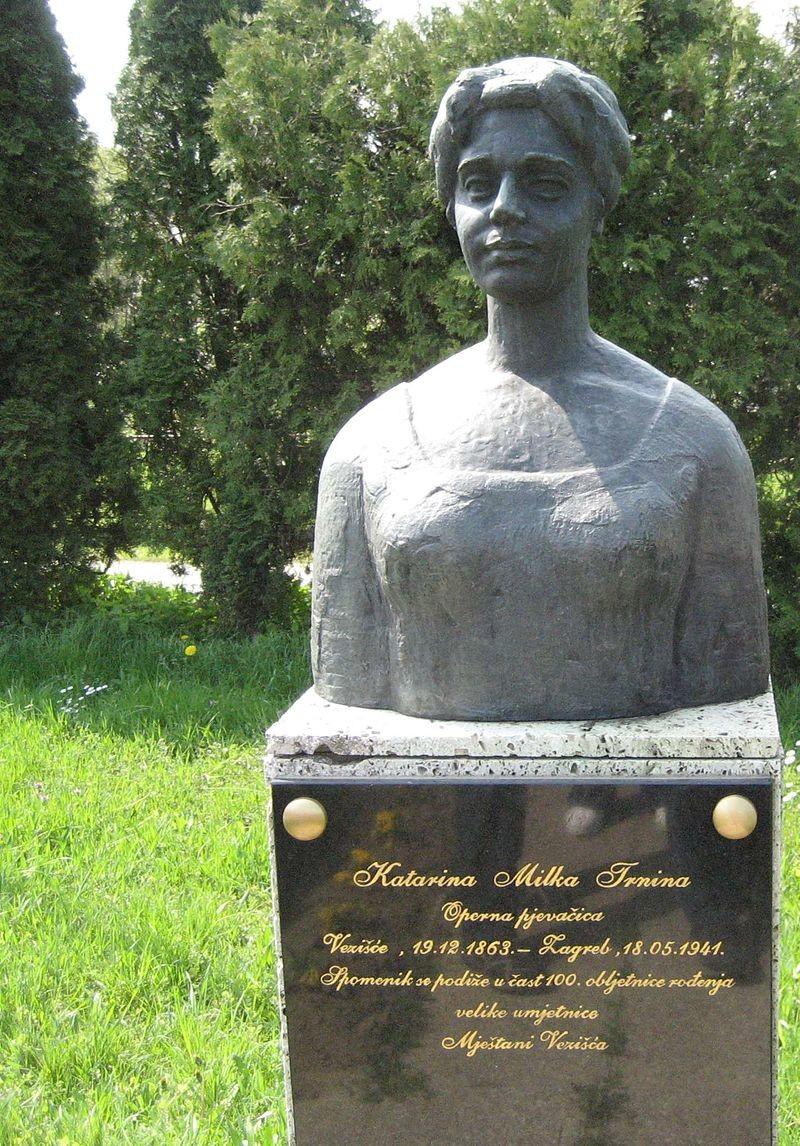 Spomenik Milki Trinini u Vezišću