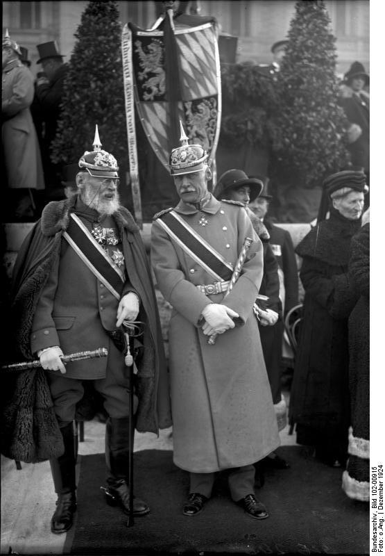 Leopold Bavarski (na slici lijevo) s bavarskim prestolonasljednikom Rupprechtom