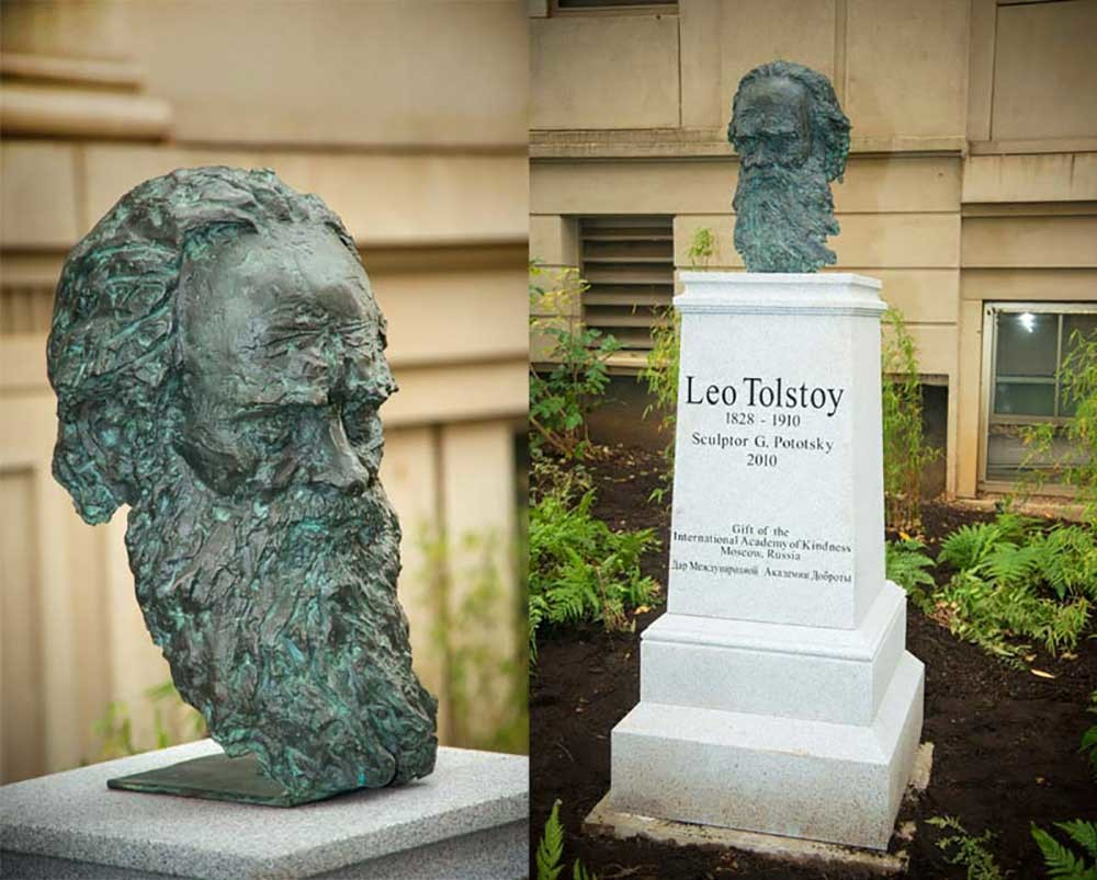 A monument to Leo Tolstoy in Washington, D.C.