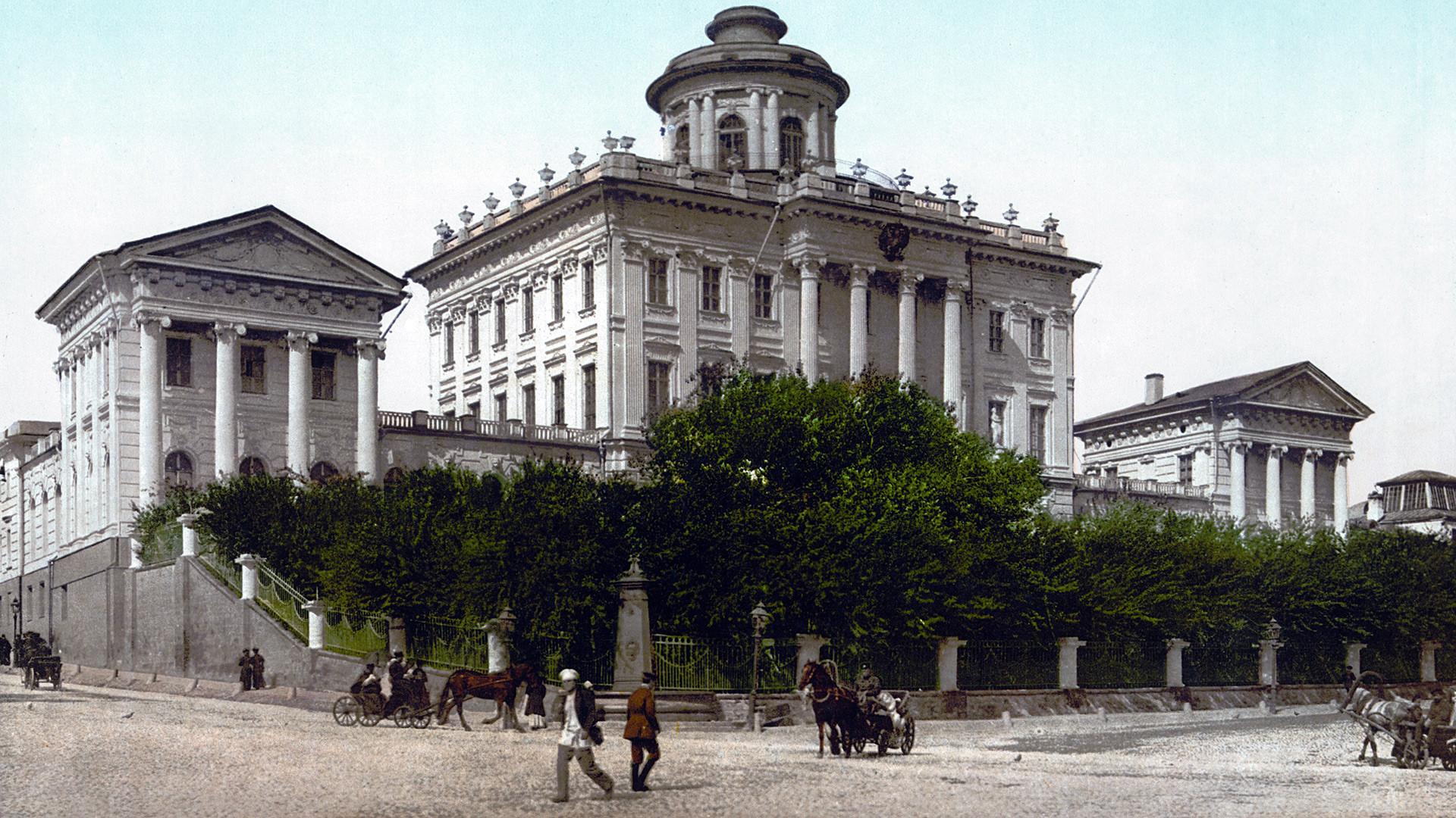 Casa Pachkov retratada em cartão postal do século 19