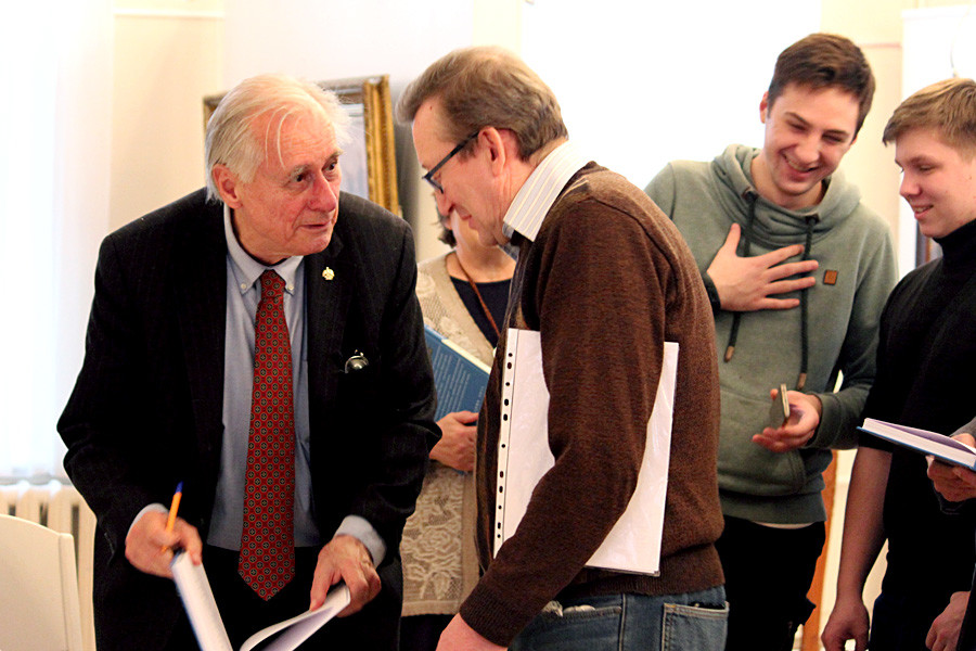 William Brumfield at the book presentation in Cherepovets