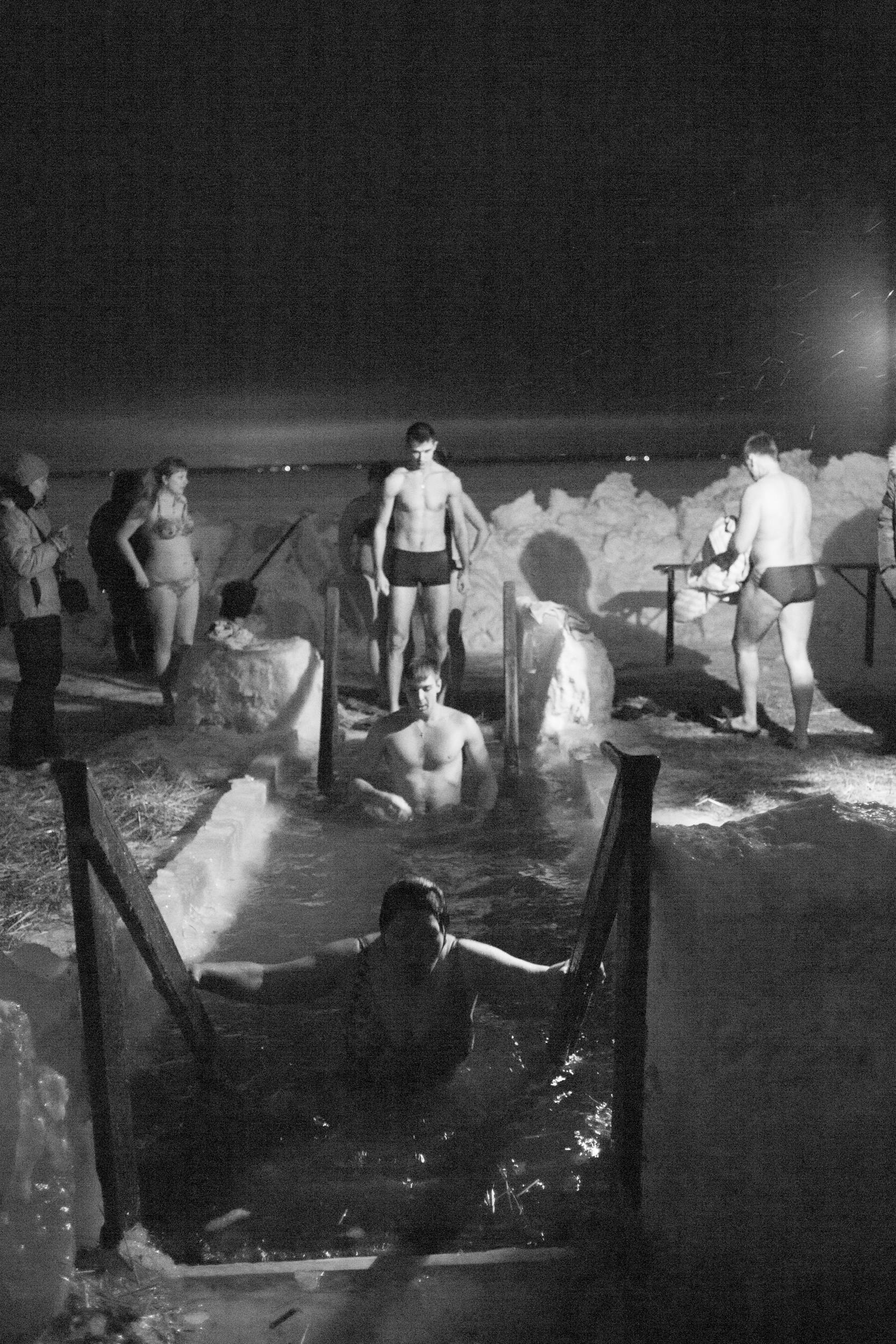 Kupanje u Novosibirsku na blagdan Bogojavljenja.