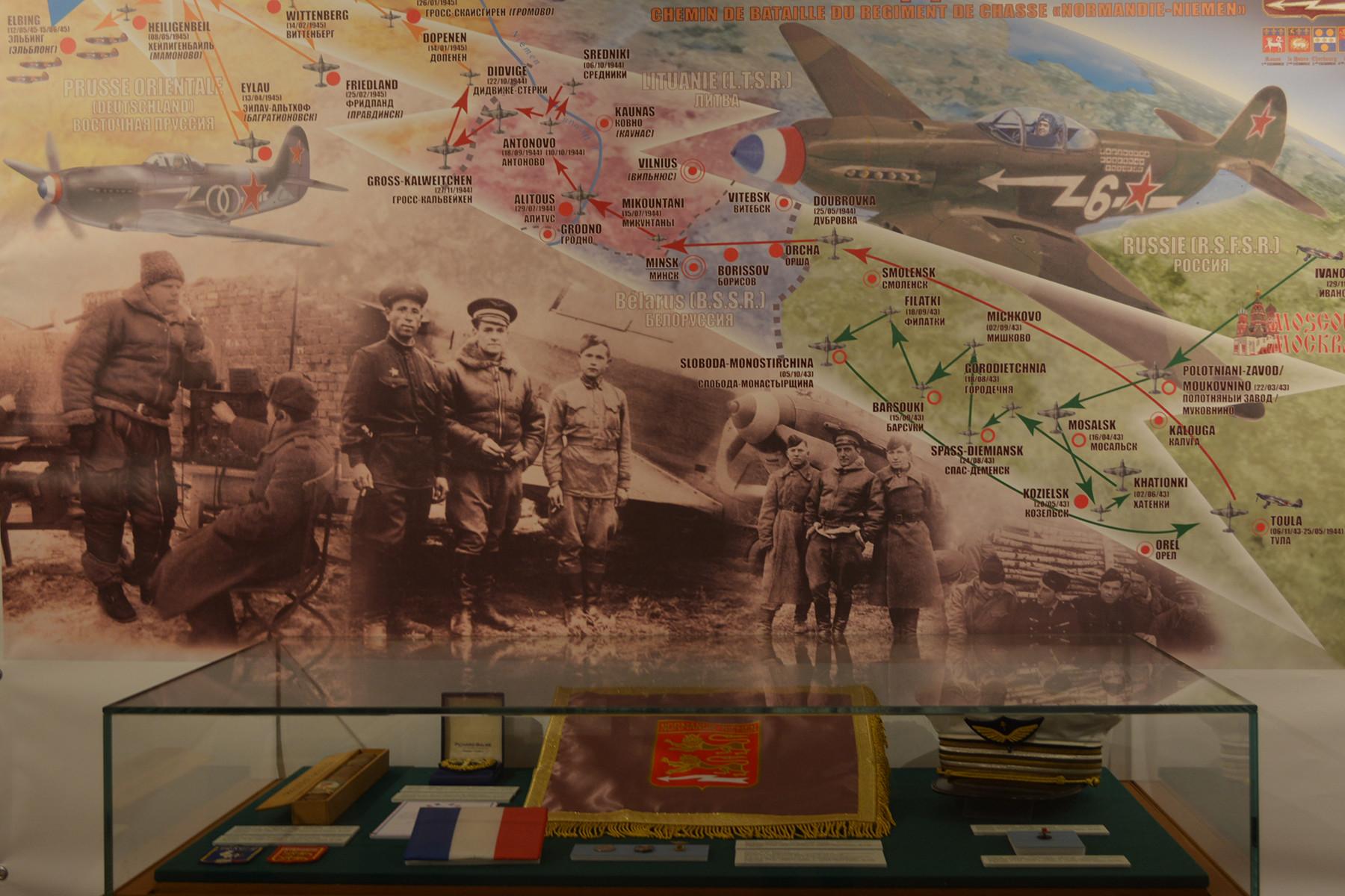 Exposition Normandie-Niemen à la Maison de la société historique russe