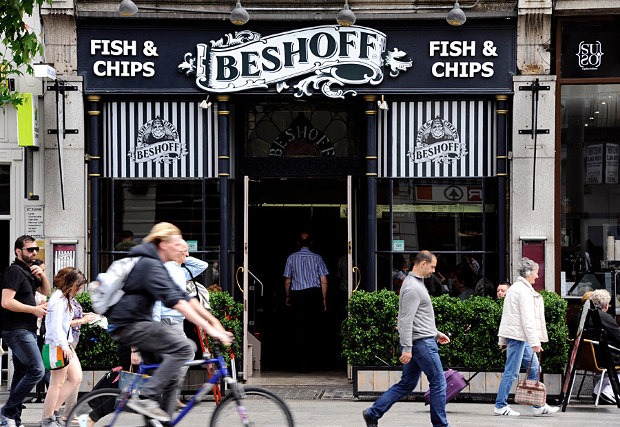 Beshoff's famous fish 'n' chips, O'Connell street, Dublin