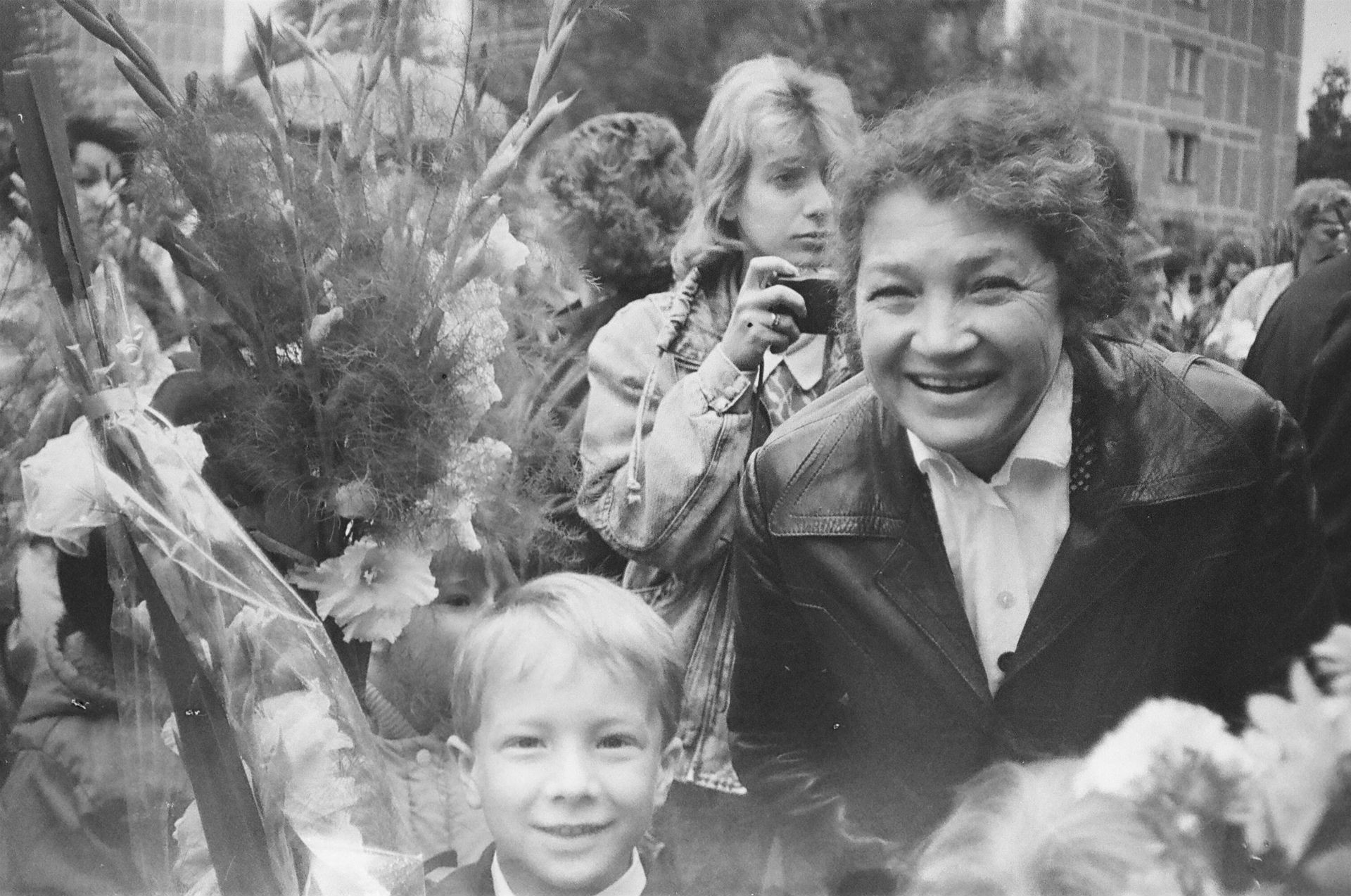 Dmitri Kretov et sa grand-mère