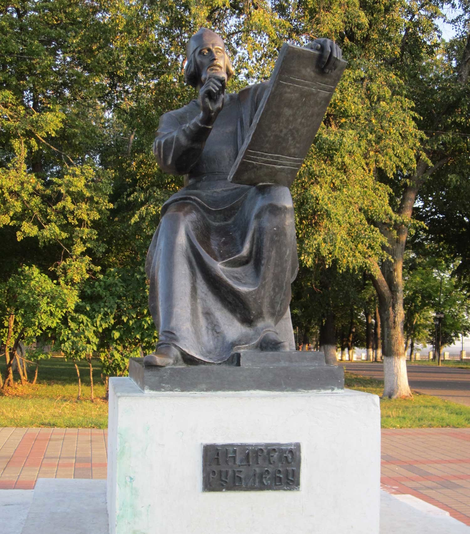 The monument to Andrei Rublev in the city of Vladimir