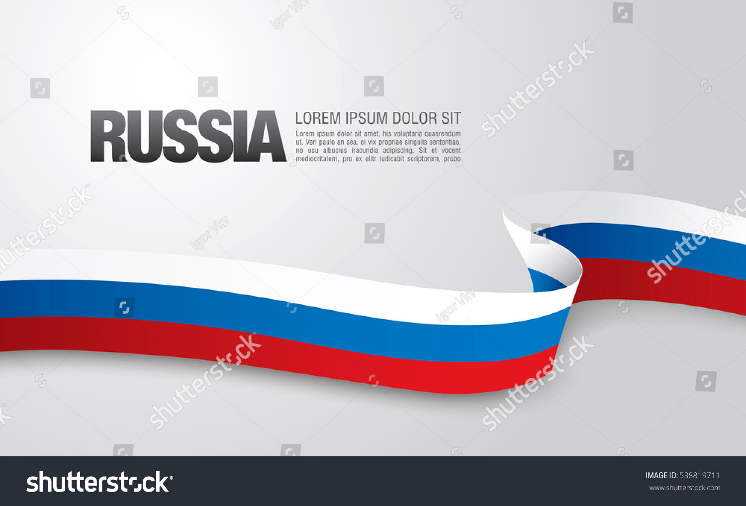 Flag of Russia by Igor Vkv
