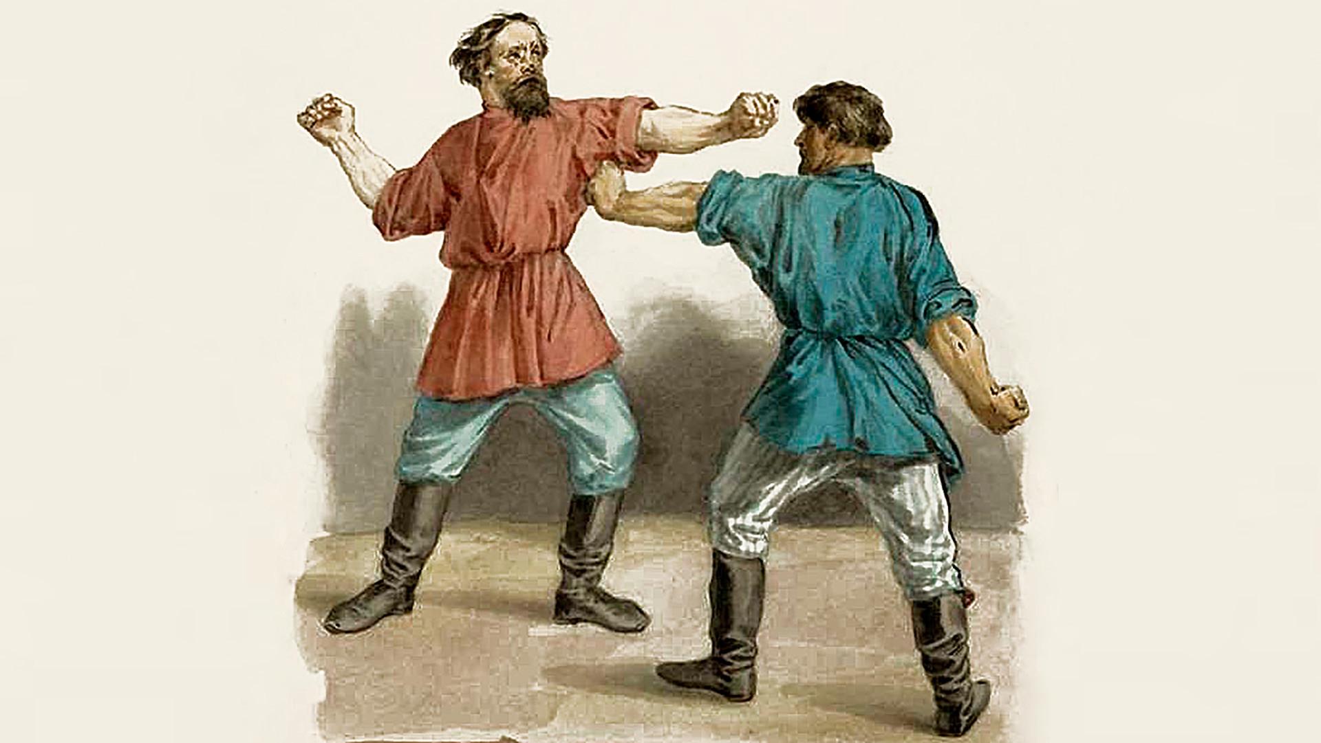 Епизода од борба со тупаници (илустрација од 19 век).