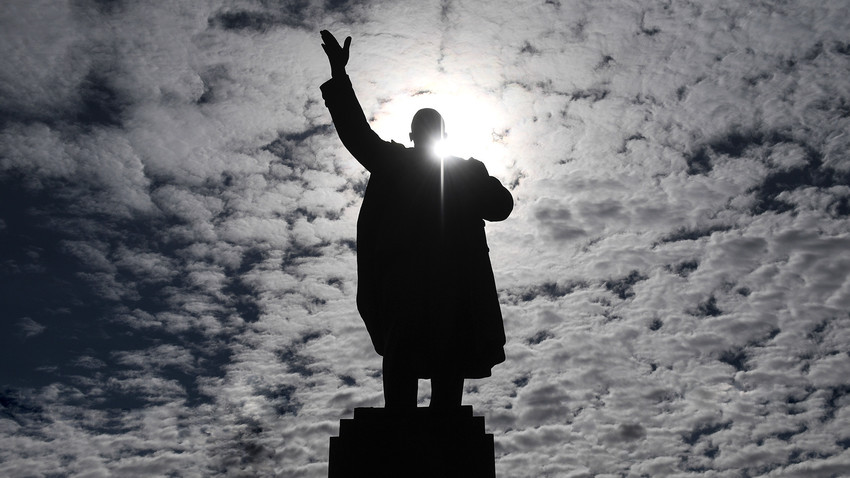 One of approximately 6000 Lenin's monuments remaining in Russia enjoys another day of sun.