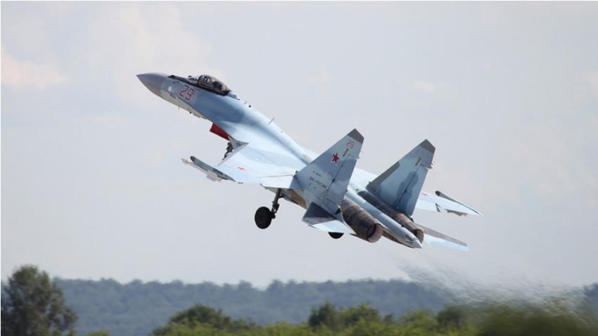 Su-35S na mednarodnem letalskem sejmu MAKS-2017.