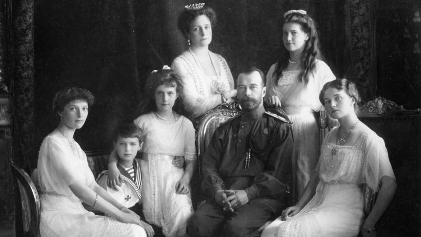 La famiglia dello zar Nicola II