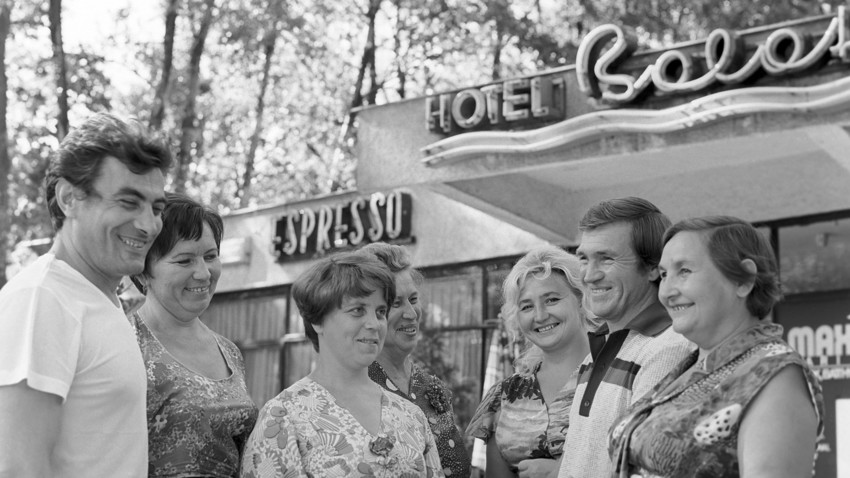 Soviet tourists in Hungary in 1978.