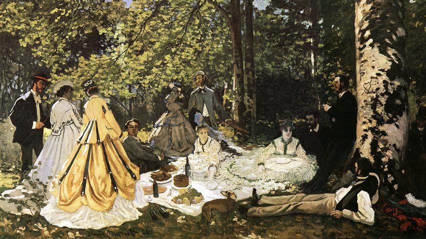 《草上の昼食》、クロード・モネ画