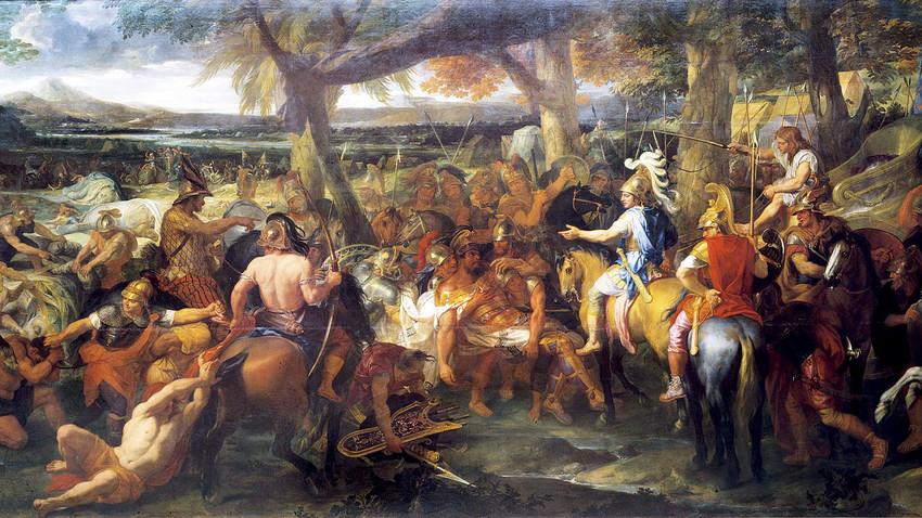 Alexander meets Porus  by Charles Le Brun
