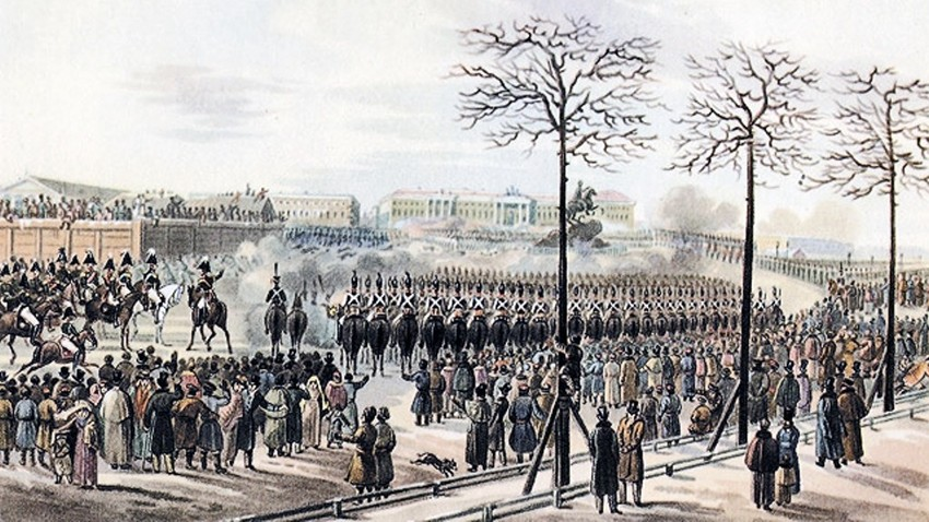 Karl Kolman (1786-1846): Dekabristenaufstand 1825 in Sankt Petersburg