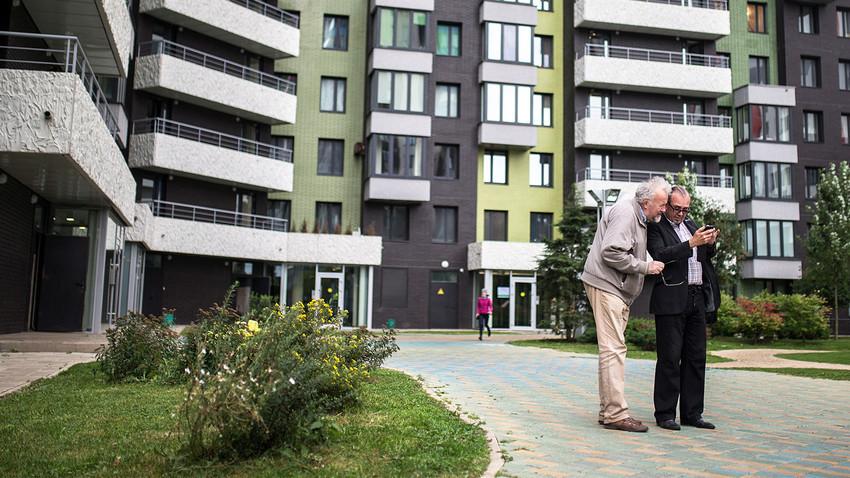 Wellton Park Novaja Shodnja na sjeveru Moskve. Projekt je izveo koncern Krost u suradnji s nizozemskim arhitektonskim uredom DKV Architecten; sastoji se od četiri stambena i uredska kompleksa.