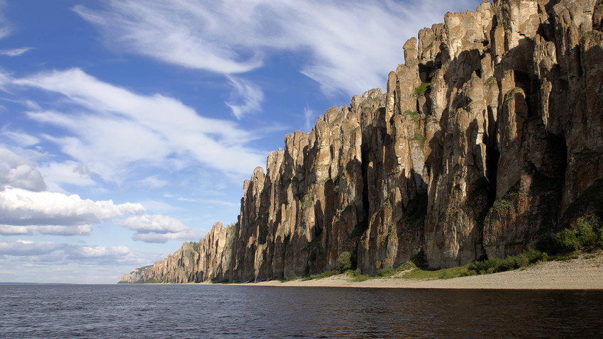 Lena Pillars were formed in some of the Cambrian Period sea-basins.