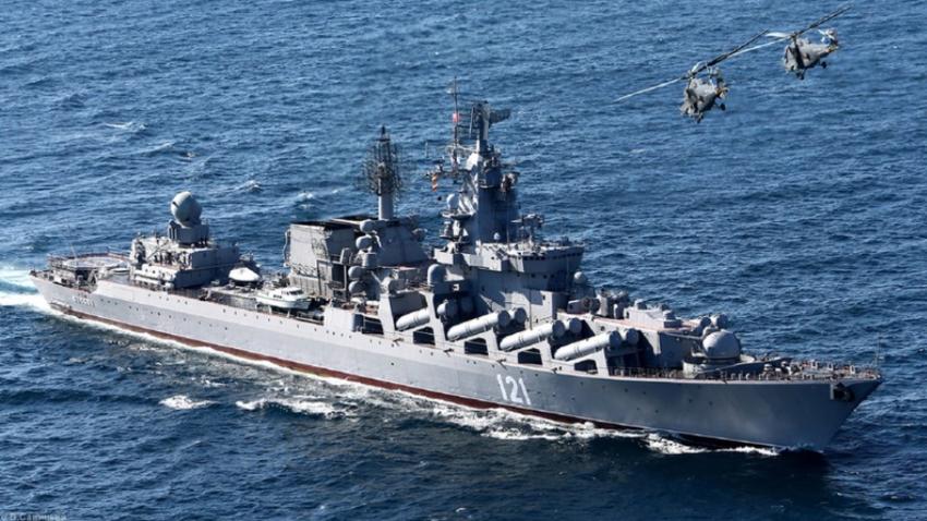 Raketna križarka Moskva.