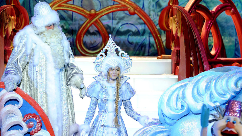 Father Frost (L) and his granddaughter, the Snow Maiden.