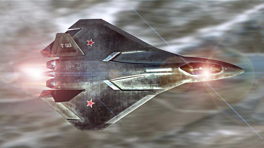 Umjetnička verzija zrakoplova T-50 PAK-FA