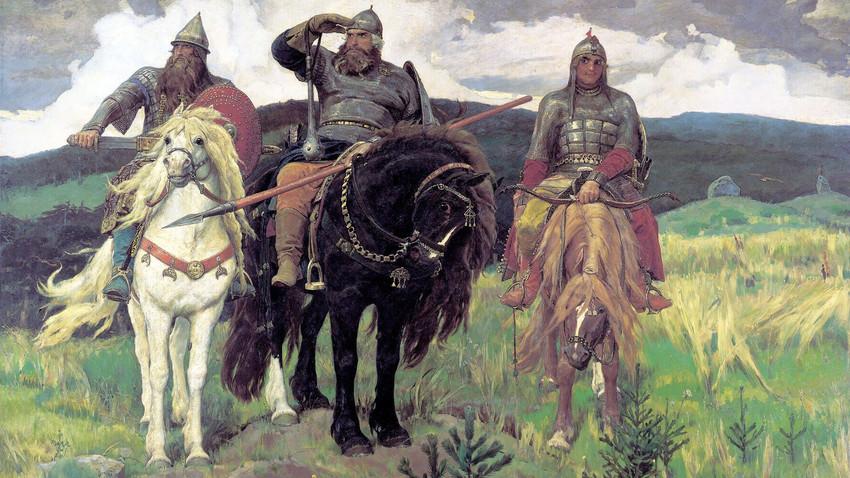 「3人の勇士」、ヴィクトル・ヴァスネツォフ画