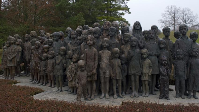 Spomenik otrokom Lebensborna v vasi Lidice, Češka