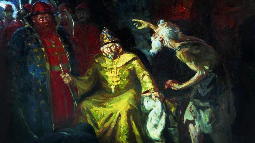 Iwan der Schreckliche und Basilius der Selige