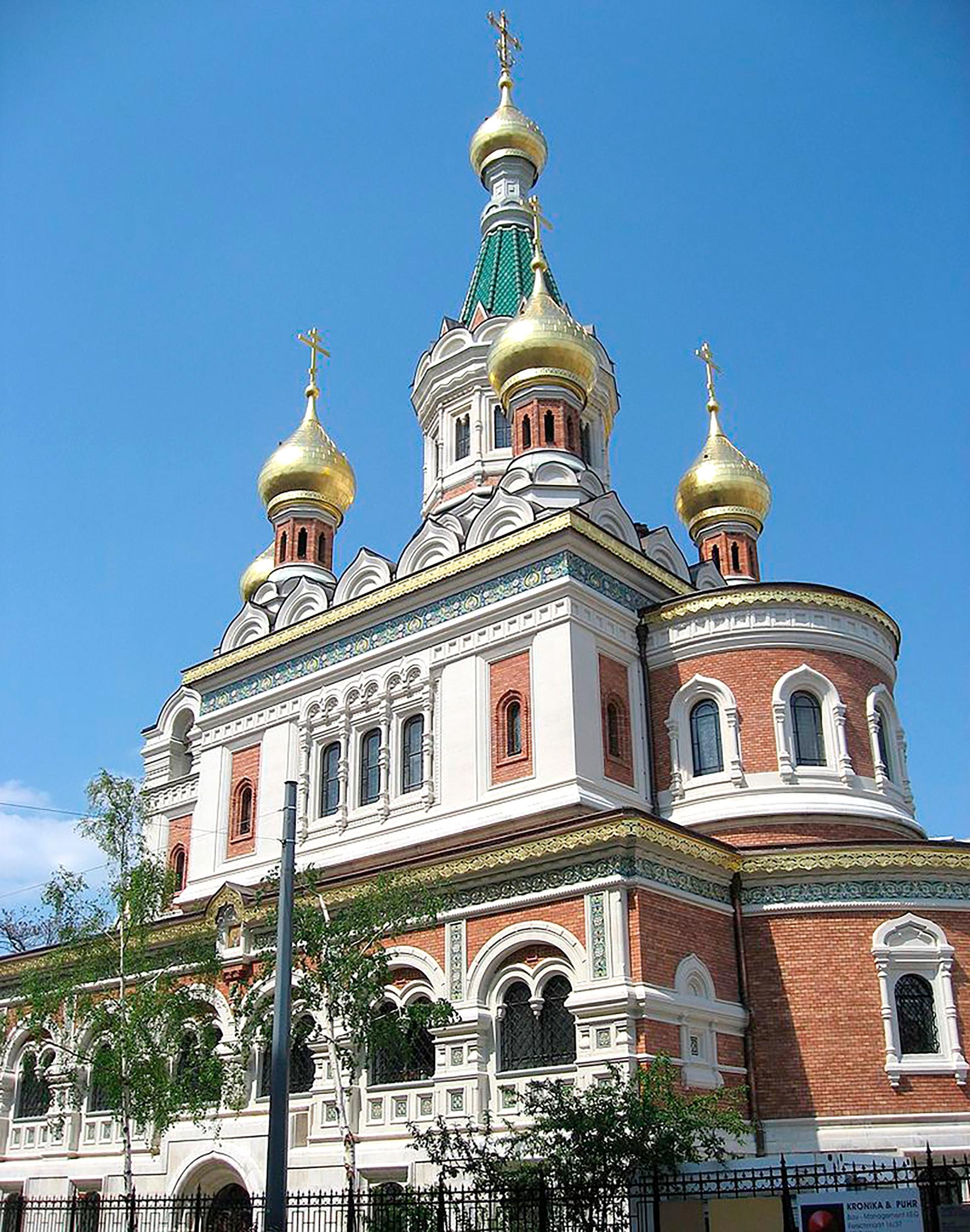 Die Russisch-Orthodoxe Kathedrale zum heiligen Nikolaus