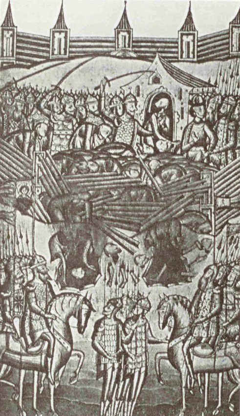 Überfall der Goldenen Horde auf Kiew, Illustration der Oxford-Enzyklopädie