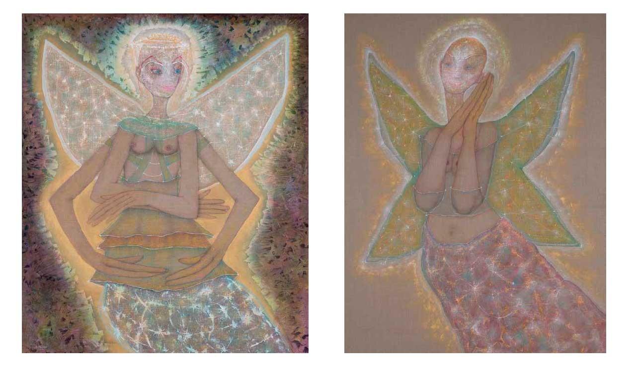Angel of Peace, 2017 (left) / New Angel, 2017
