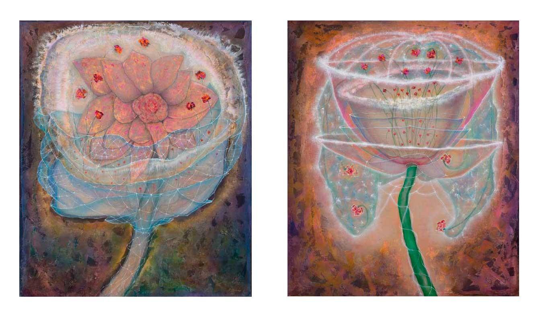 Magical Flower, 1, 2017 (left) / Flower of Love, 2017