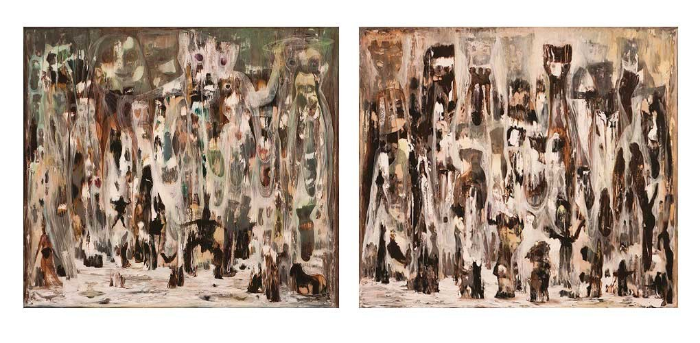 The Dream of Wild Dance and the Floating Hearts, 2011 (left) / The Dream Of Pushkin, 2010