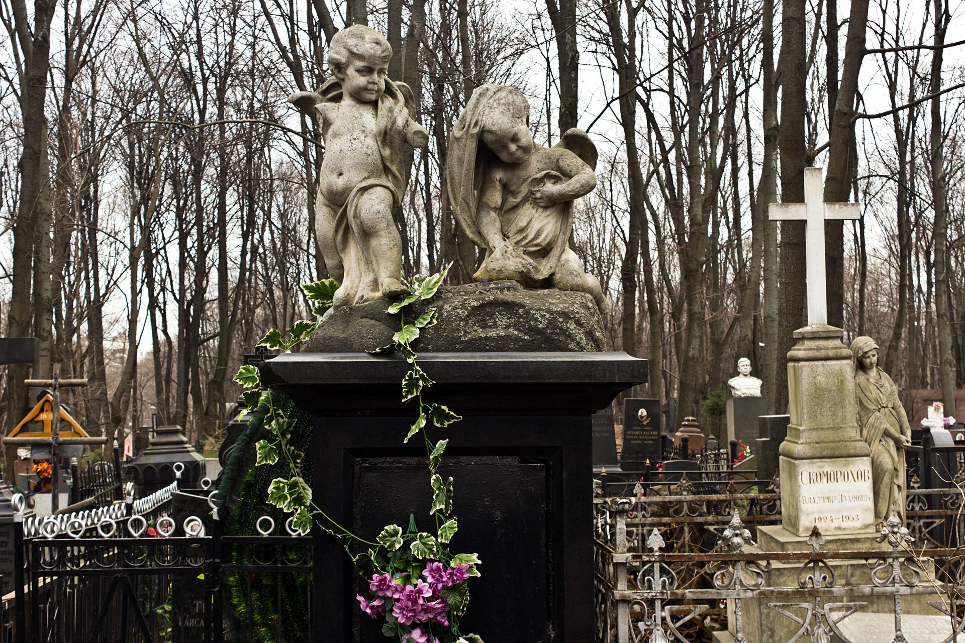 Cemitério Vvedenskoie, em Moscou.