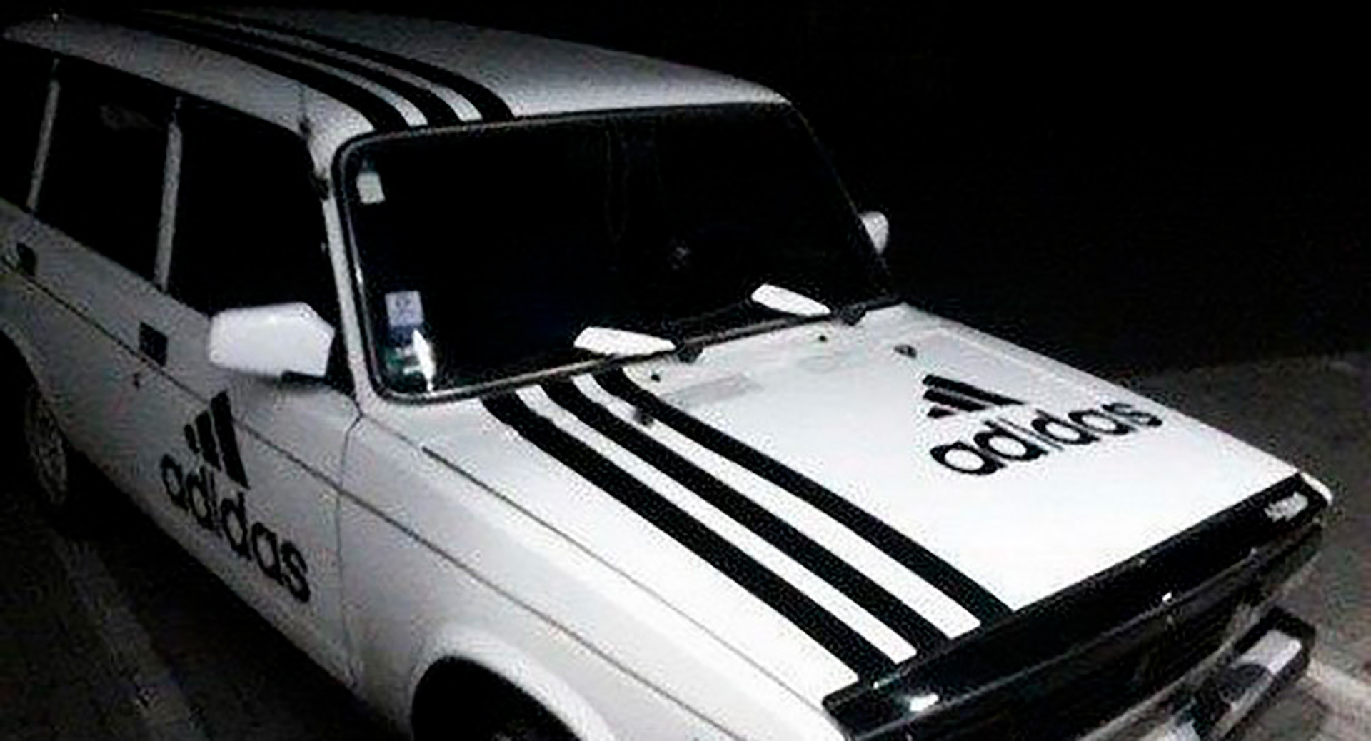 In Russia, you can put three stripes on a car...