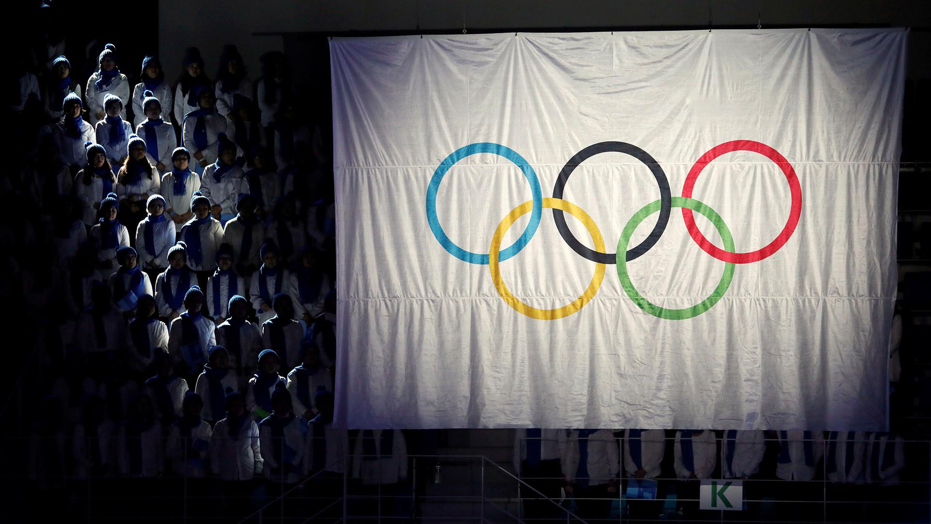 Bendera netral Olimpiade.