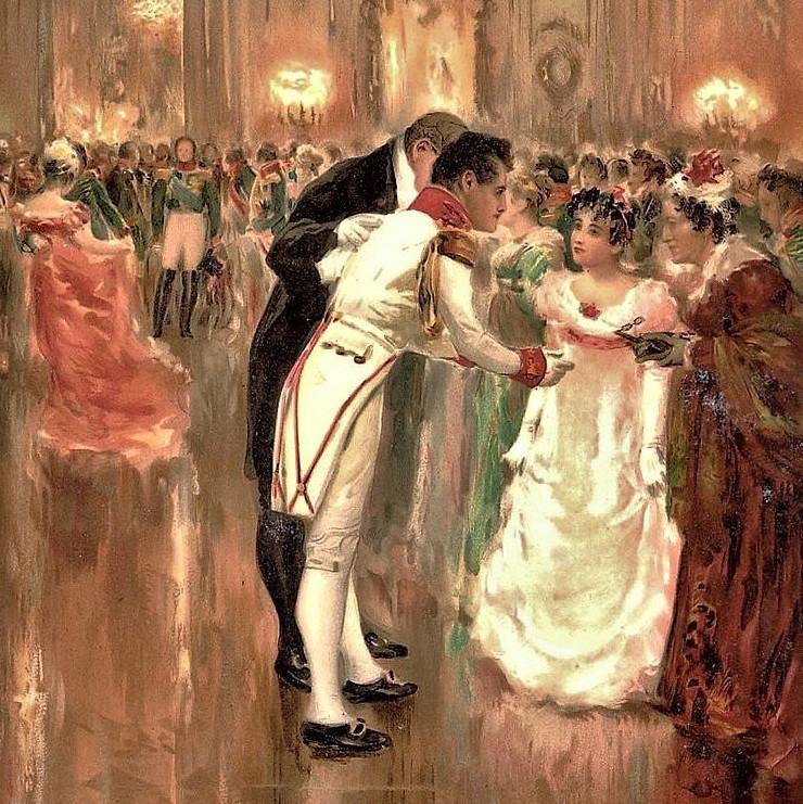 O encontro de Andrêi e Natacha no baile é uma das cenas centrais de 'Guerra e Paz'.