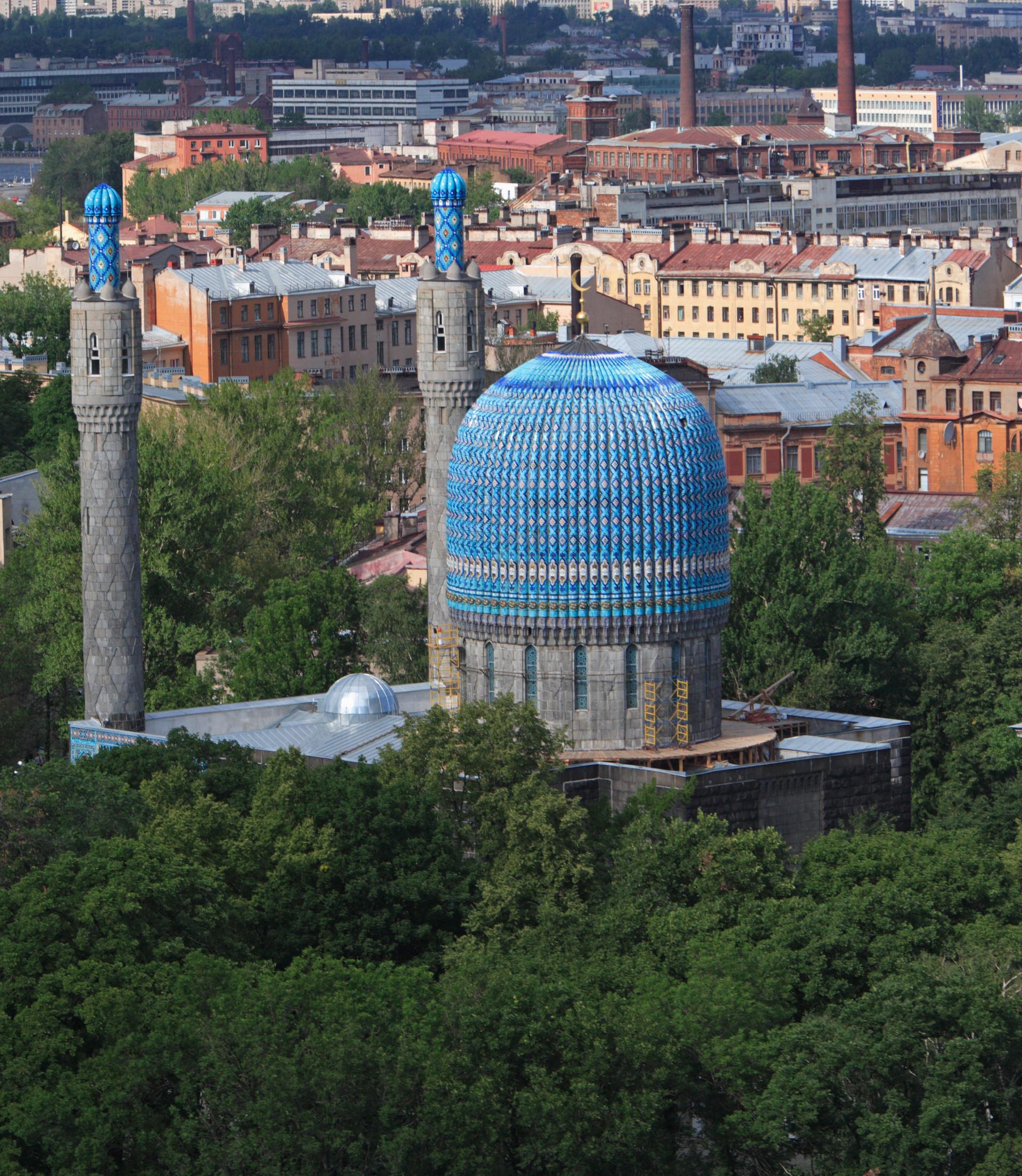 Kini, Masjid Biru masih berdiri tegak di Sankt Peterburg.