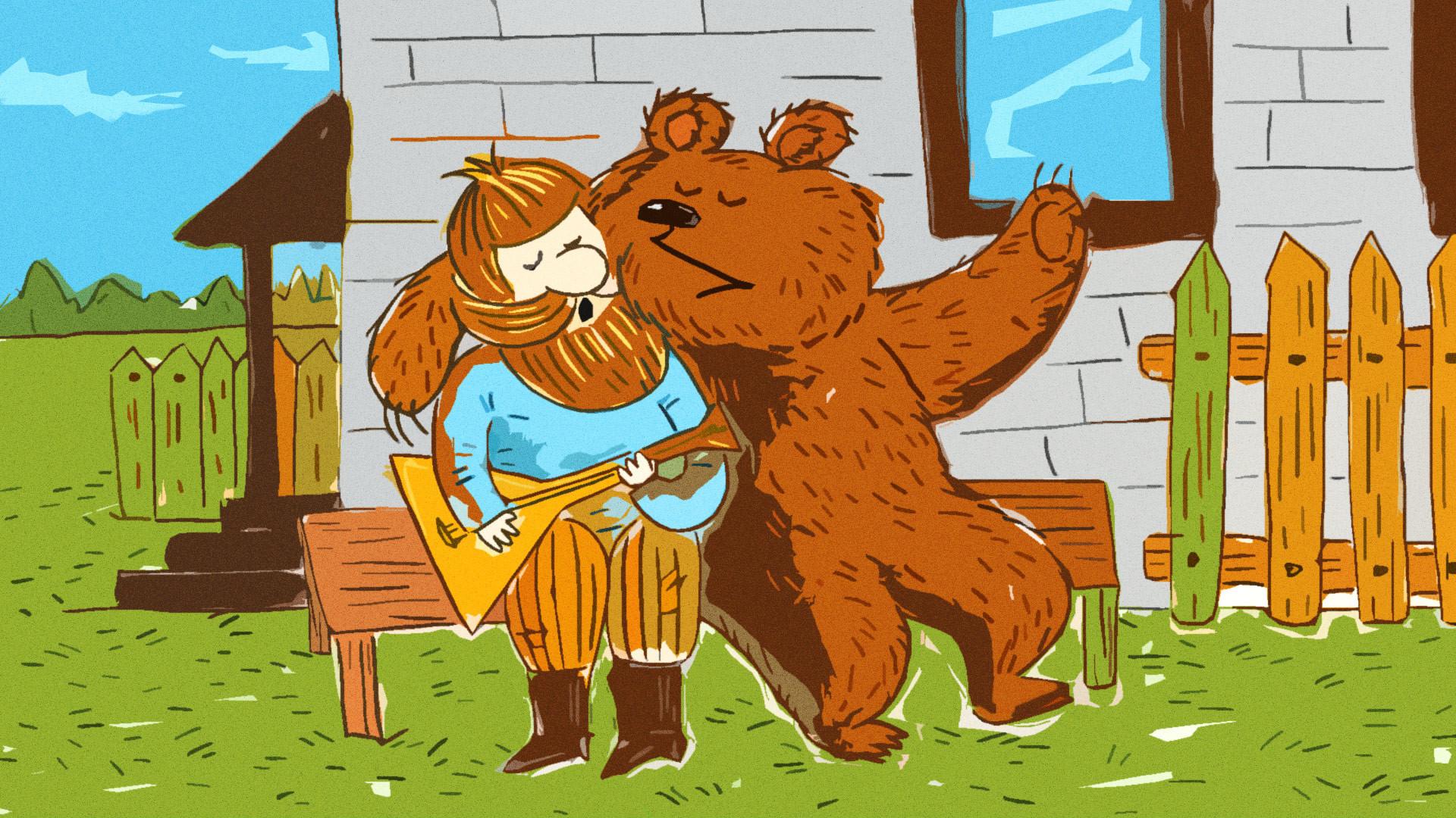 Rasa tak kenal takut (dan mungkin ditambah alkohol) adalah satu-satunya penjelasan perilaku sembrono orang Rusia
