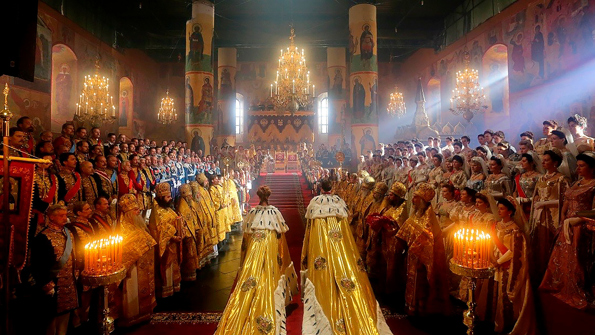 Coronation of Nicholas II in Moscow's Kremlin.